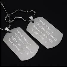 mens personalized dog tags personalized engraving a set of two pieces men s army