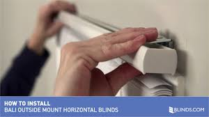 How To Shorten Vertical Blinds To Fit Window How To Install Bali 1 Inch Aluminum Mini Blinds Outside Mount