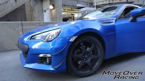 subaru brz front bumper move over racing bumper quick release kit 2013 fr s brz