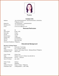 Sle Resume For Teachers Applicant Philippines 10 Resume Exles Philippines Best Templates