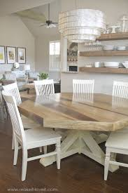 dining room nice design distressed white 2017 dining table