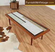 tile top coffee table century modern mosaic tile top coffee table