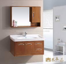 Solid Wood Bathroom Cabinet Morden Hanging Wall Solid Wood Bathroom Cabinet Wooden Concept