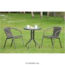 Rattan Bistro Table Venice Rattan Effect Bistro Set 3pc Garden Furniture