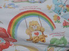 care bears twin flat bed sheet snuggle sweet dreams blue