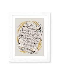the lord u0027s prayer print gracelaced