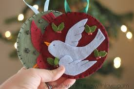 felt christmas ornaments bird in flight felt ornament do small things with great
