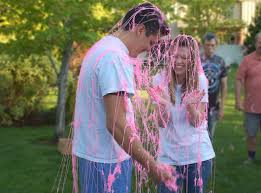 silly string gender reveal silly string pink or blue g r s