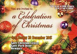 your invitation to our carol service gaer christian fellowship