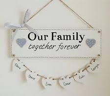 handmade family names decorative plaques signs ebay