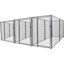 lucky dog heavy duty dog kennel 3 run w common wall walmart com