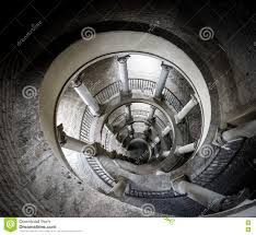 Looking Down Stairs by The Original Bramante Staircase From Above Stock Photo Image