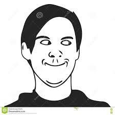 Meme Guy - vector troll guy meme face for any design eps 10 illustration