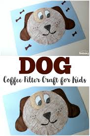 coffee filter crafts for kids coffee filter dog craft look we