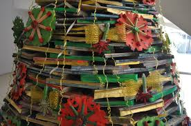 Decoration Material For Christmas Tree by Christmas Decorations Made Up Of Recycled Materials U2013 Keziah Garde