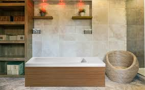 Bathtub And Wall One Piece Pure 2l Back To Wall Solid Surface Bathtub With Light Decorative
