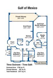 2 Bedroom Condo Floor Plan 3 Bedroom Condo Floor Plans Silver Beach Towers
