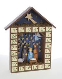 nativity advent calendar sends traditional nativity wooden advent calendar
