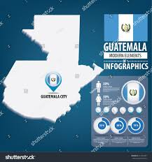 Guatemala Flag Republic Guatemala Flag Travel Vector Illustration Stock Vector