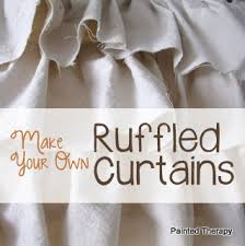 Ruffled Kitchen Curtains by Painted Therapy Diy Ruffled Curtains