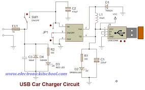 wiring diagram simple usb car charger using lm2596 ic real auto tips