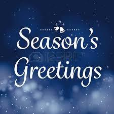 seasons greetings calligraphy card vector design royalty free