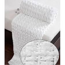 plaid blanc pour canapé plaid blanc paillettes strass achat vente couverture plaid