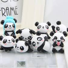 8pcs set panda moss micro landscape resin panda babies