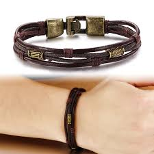 multi leather bracelet images Fashion multi layer genuine leather man bracelets casual sporty jpg
