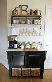 Coffee Maker Table Narrow Bar Table With Black Stools Also Floating Glass