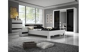 chambre adulte design blanc chambre complète blanc laqué mat noir laqué brillant sabri chambre