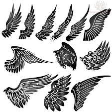 amazing grey ink wings designs