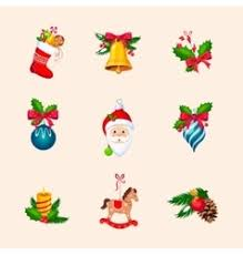 Bright Christmas Decorations Bright Christmas Decorations Royalty Free Vector Image