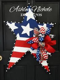Fourth Of July Door Decorations Ships Now 4th Of July Patriotic Star Wooden Door Hanger Door