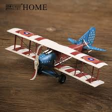 airplane home decor american rustic retro handmade iron art airplane model vintage plane