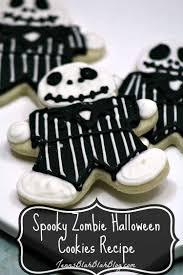 spooky zombie halloween cookie recipe jenns blah blah blog