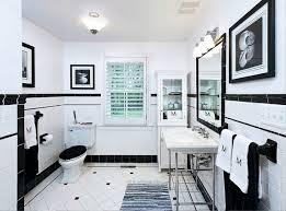 Vintage Black White Tile Bathroom Zampco - Floor tile designs for bathrooms