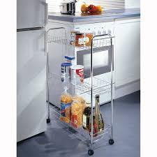 étagère à roulettes cuisine étourdissant meuble de rangement cuisine a roulettes avec desserte