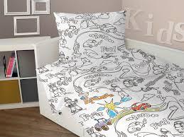 Wash Duvet Cover Children U0027s Colouring Bedding Duvet Cover Pillow Case And Wash