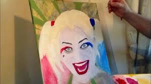 bailey quinn harley quinn timelapse painting acrylic featuring bailey pelkman