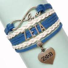 zeta phi beta infinity love wrap bracelet u2013 letters greek apparel