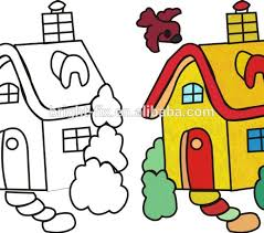 tiny color children drawing pictures for painting printable tiny coloring
