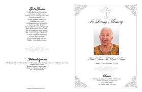 funeral booklet templates funeral program templates large tabloid grey ornate cross