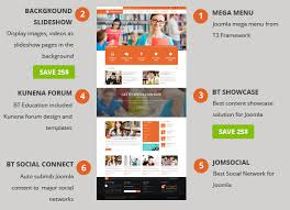 joomla education templates bt education responsive template for joomla by bowthemes