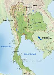 Central America Physical Map by Thailand Physical Map