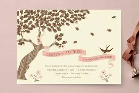 tree wedding invitations the tree wedding invitations by coco and ell minted