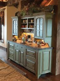 RUSTIC KITCHEN Love This Green Buffet Cabinet For In The Kitchen - Kitchen buffet cabinets