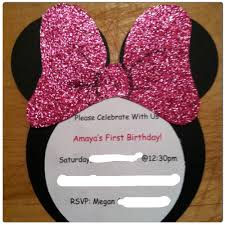 Minnie Mouse Invitation Card Custom Minnie Mouse Invitations Need Black White And Your