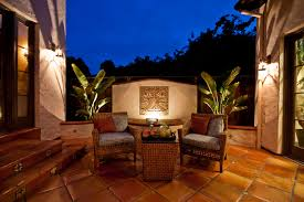 Designers Patio Light Design With Water Feature Patio Mediterranean And San
