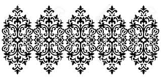 Ottoman Design Black And White Antique Ottoman Turkish Design Motifs Vector